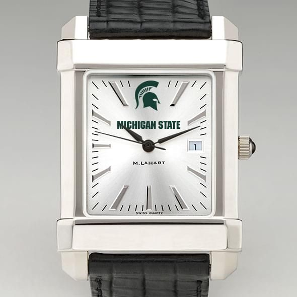 Michigan State Men's Collegiate Watch with Leather Strap