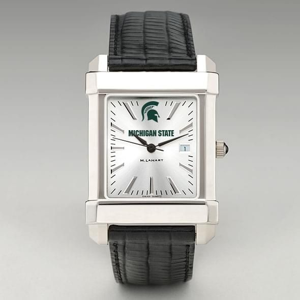 Michigan State Men's Collegiate Watch with Leather Strap - Image 2