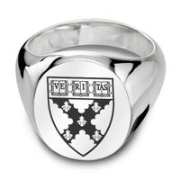 Harvard Business School Sterling Silver Oval Signet Ring