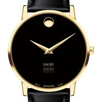 Emory Goizueta Men's Movado Gold Museum Classic Leather