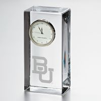 Baylor Tall Glass Desk Clock by Simon Pearce