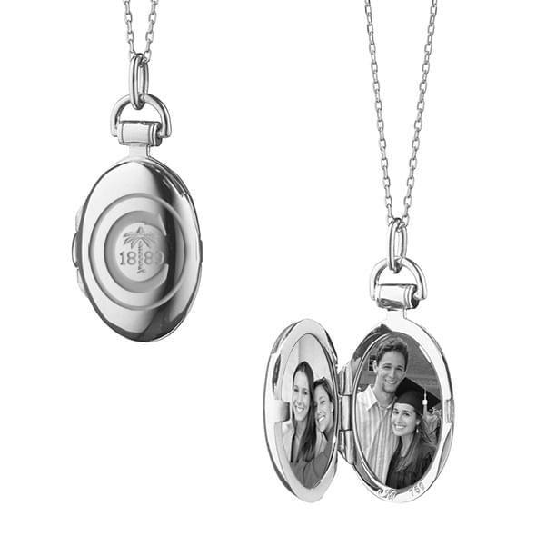 Clemson Monica Rich Kosann Petite Locket in Silver - Image 2