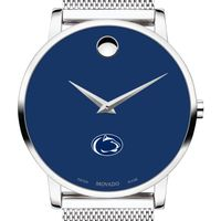 Penn State University Men's Movado Museum with Blue Dial & Mesh Bracelet