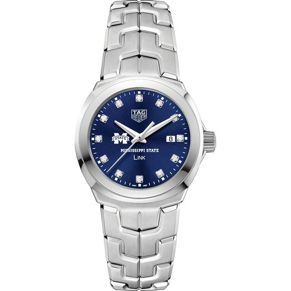 Mississippi State Women's TAG Heuer Link with Blue Diamond Dial - Image 2