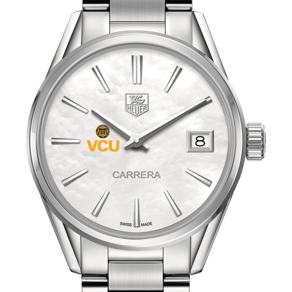 Virginia Commonwealth University Women's TAG Heuer Steel Carrera with MOP Dial - Image 1