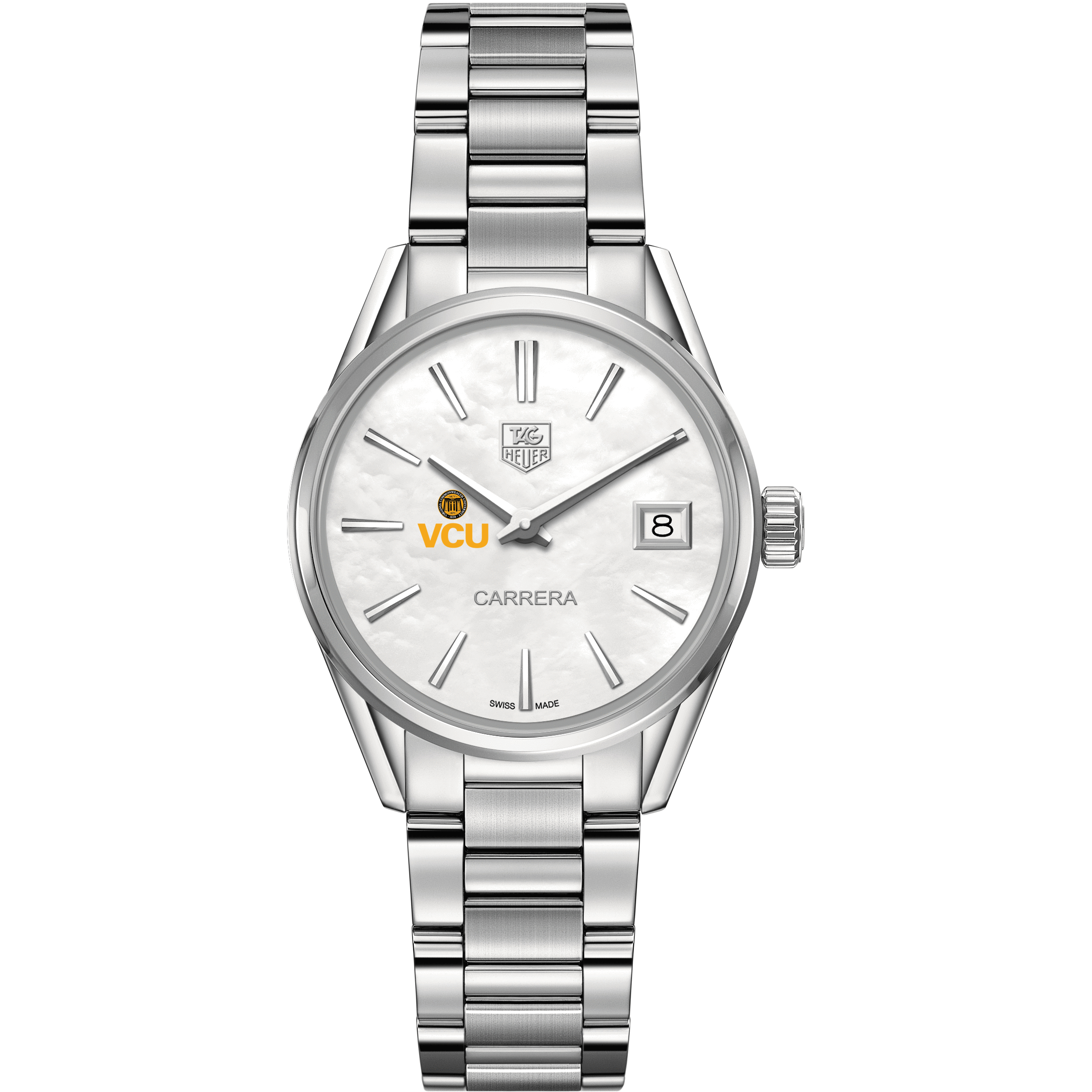 VCU Women's TAG Heuer Steel Carrera with MOP Dial - Image 2