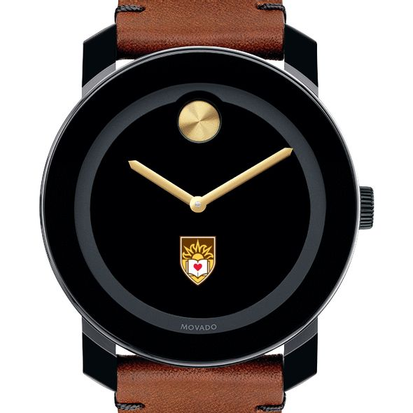 Lehigh University Men's Movado BOLD with Brown Leather Strap