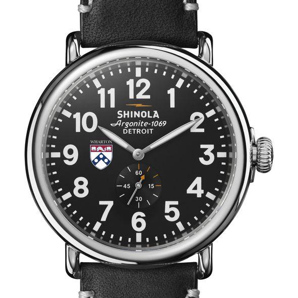 Wharton Shinola Watch, The Runwell 47mm Black Dial