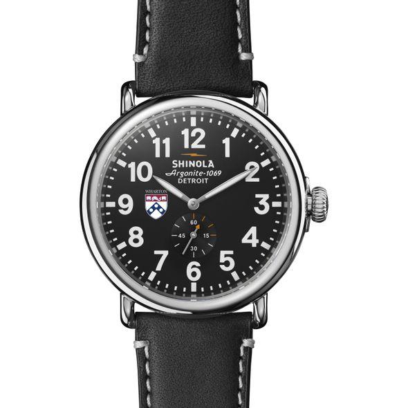 Wharton Shinola Watch, The Runwell 47mm Black Dial - Image 2