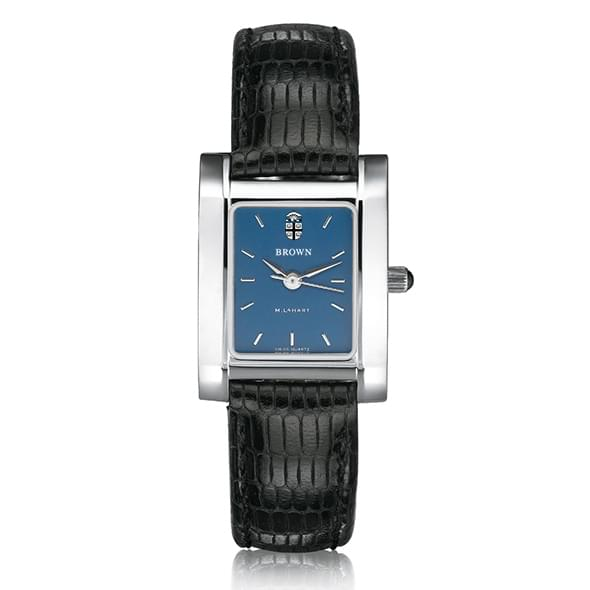 Brown Women's Blue Quad Watch with Leather Strap - Image 2
