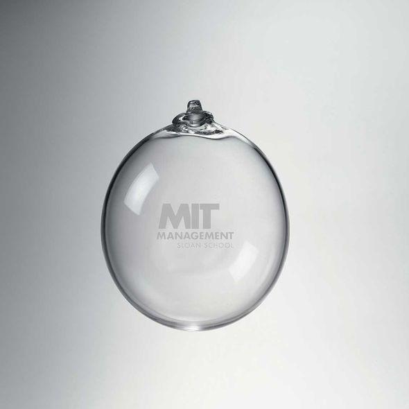 MIT Sloan Glass Ornament by Simon Pearce - Image 1