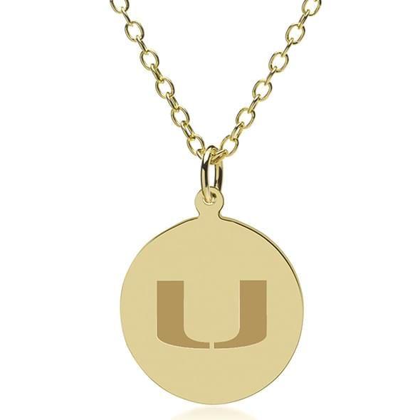 Miami 18K Gold Pendant & Chain - Image 1