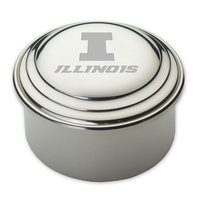 University of Illinois Pewter Keepsake Box