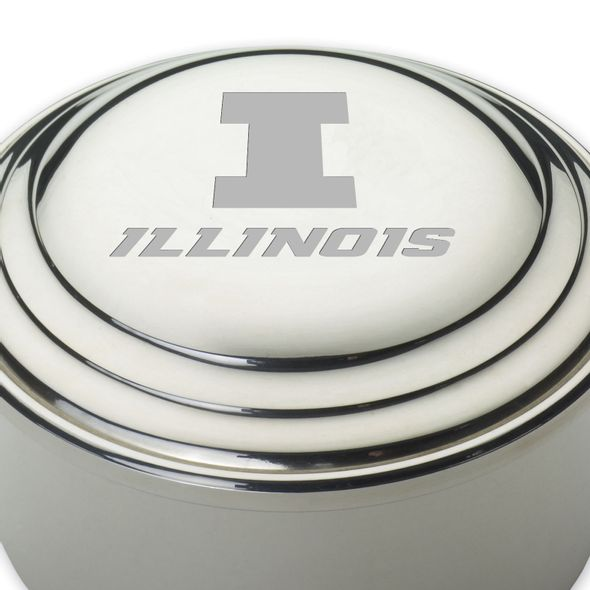 University of Illinois Pewter Keepsake Box - Image 2