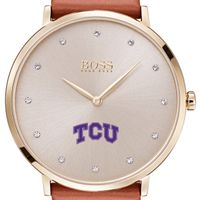 Texas Christian University Women's BOSS Champagne with Leather from M.LaHart