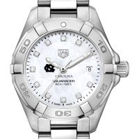 UNC Women's TAG Heuer Steel Aquaracer with MOP Diamond Dial
