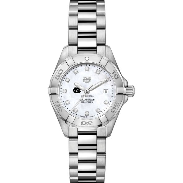 UNC Women's TAG Heuer Steel Aquaracer with MOP Diamond Dial - Image 2