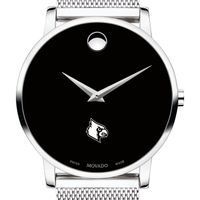 University of Louisville Men's Movado Museum with Mesh Bracelet