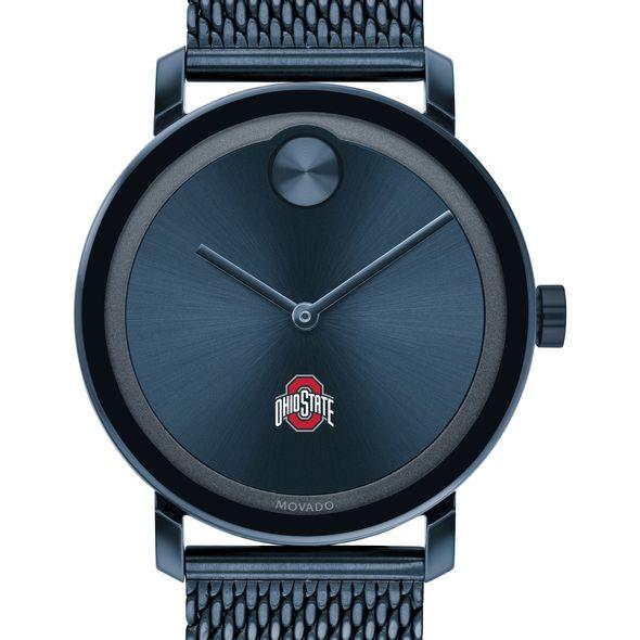 Ohio State Men's Movado Bold Blue with Mesh Bracelet - Image 1