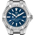 Louisville Women's TAG Heuer 35mm Steel Aquaracer with Blue Dial - Image 1
