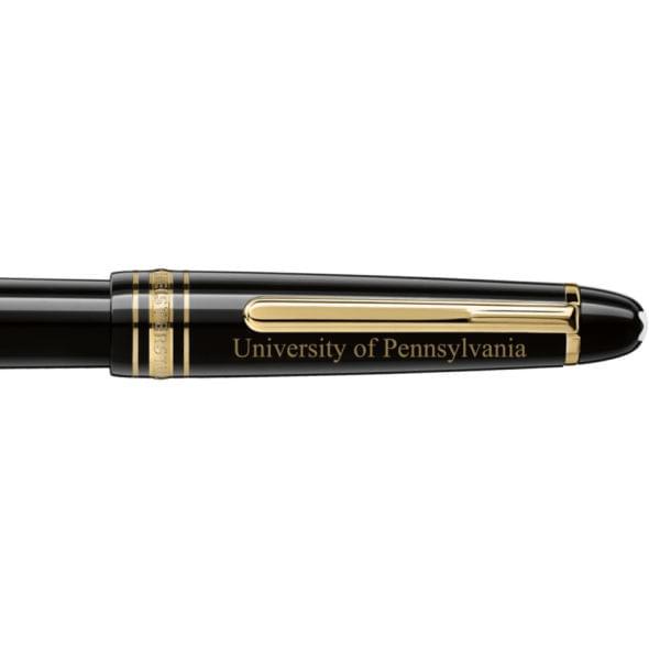 University of Pennsylvania Montblanc Meisterstück Classique Fountain Pen in Gold - Image 2