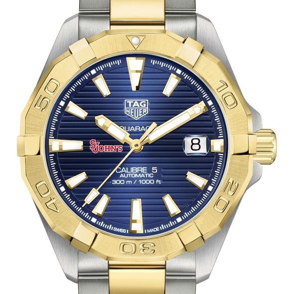 St. John's Men's TAG Heuer Automatic Two-Tone Aquaracer with Blue Dial - Image 1