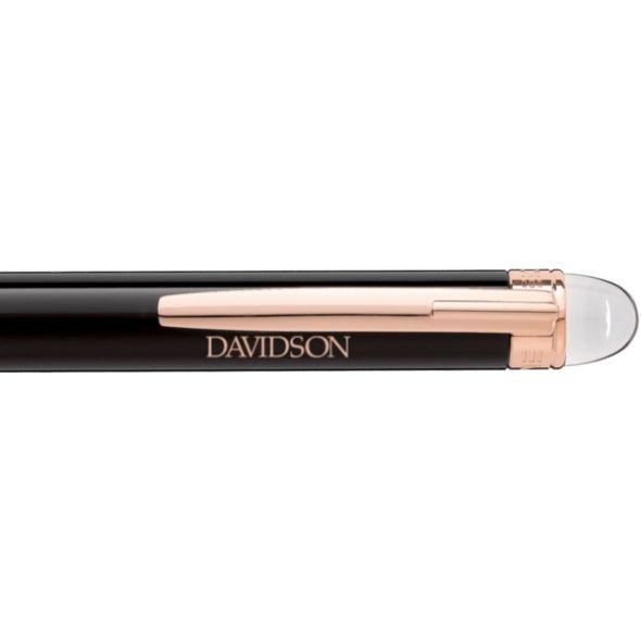 Davidson College Montblanc StarWalker Ballpoint Pen in Red Gold - Image 2