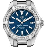 SC Johnson College Women's TAG Heuer 35mm Steel Aquaracer with Blue Dial