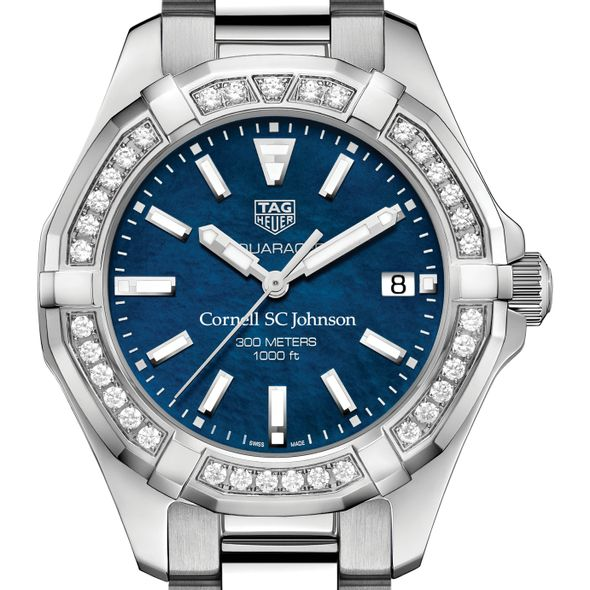 SC Johnson College Women's TAG Heuer 35mm Steel Aquaracer with Blue Dial - Image 1