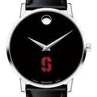 Stanford University Men's Movado Museum with Leather Strap