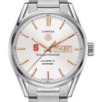 Syracuse University Men's TAG Heuer Day/Date Carrera with Silver Dial & Bracelet