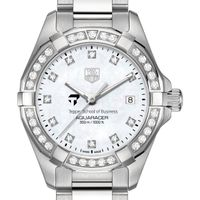 Tepper Women's TAG Heuer Steel Aquaracer with MOP Diamond Dial & Bezel