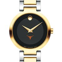 University of Texas Women's Movado Two-Tone Modern Classic Museum with Bracelet