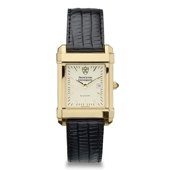Princeton Men's Gold Quad Watch with Leather Strap - Image 2