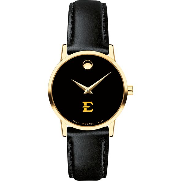 East Tennessee State University Women's Movado Gold Museum Classic Leather - Image 2