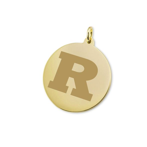 Rutgers University 18K Gold Charm
