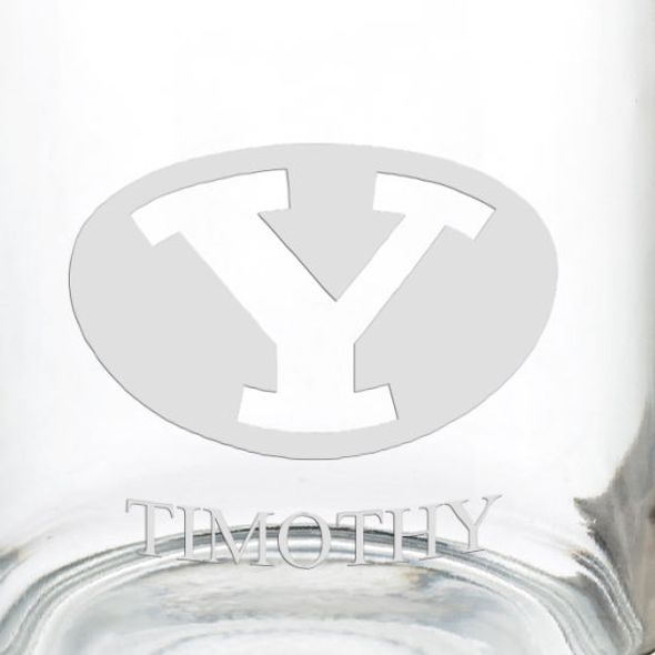 Brigham Young University 13 oz Glass Coffee Mug - Image 3