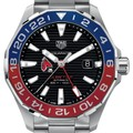 Ball State Men's TAG Heuer Automatic GMT Aquaracer with Black Dial and Blue & Red Bezel - Image 1