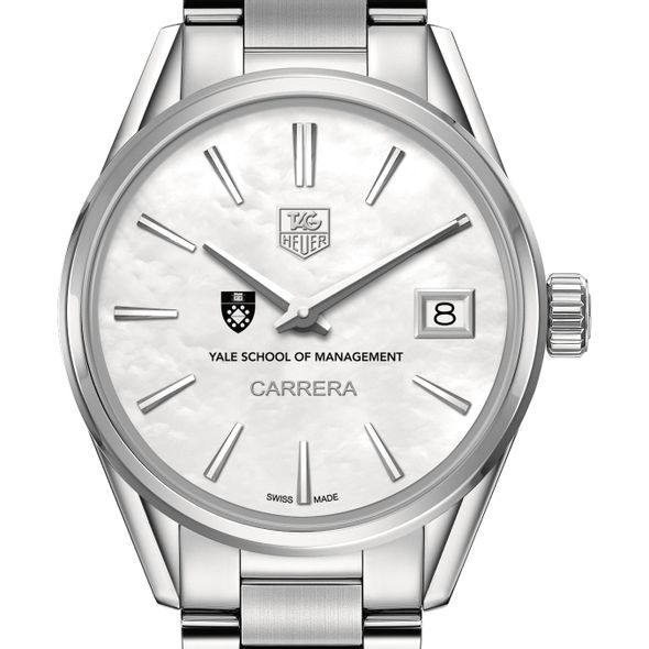 Yale SOM Women's TAG Heuer Steel Carrera with MOP Dial - Image 1