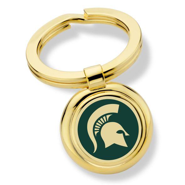 Michigan State Enamel Key Ring