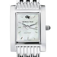Georgia Tech Women's Mother of Pearl Quad Watch with Bracelet
