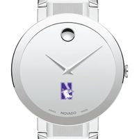 Northwestern University Men's Movado Sapphire Museum with Bracelet