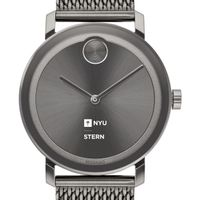 NYU Stern School of Business Men's Movado BOLD Gunmetal Grey with Mesh Bracelet