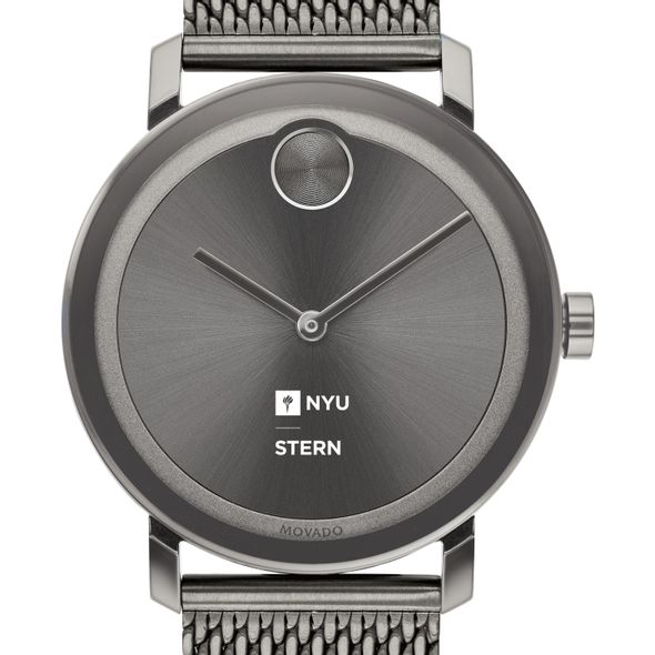 NYU Stern School of Business Men's Movado BOLD Gunmetal Grey with Mesh Bracelet