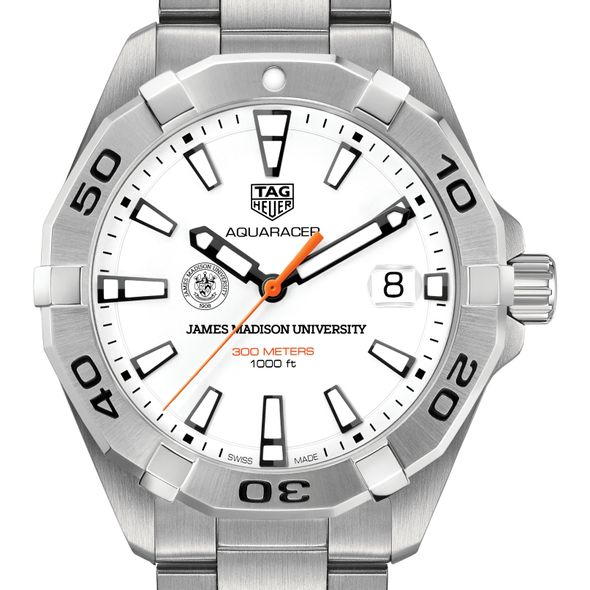James Madison University Men's TAG Heuer Steel Aquaracer - Image 1