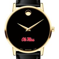 University of Mississippi Men's Movado Gold Museum Classic Leather
