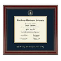 George Washington University Diploma Frame, the Fidelitas