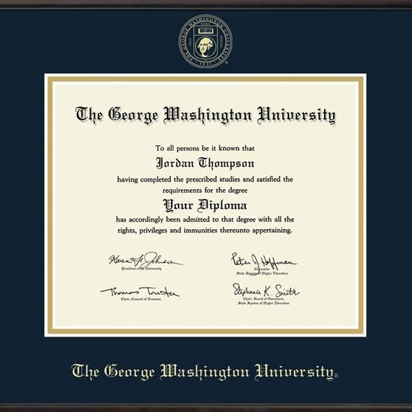 George Washington University Diploma Frame, the Fidelitas - Image 2