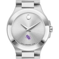 SFASU Women's Movado Collection Stainless Steel Watch with Silver Dial