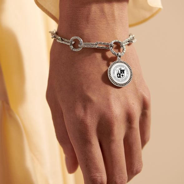 Virginia Tech Amulet Bracelet by John Hardy with Long Links and Two Connectors - Image 1